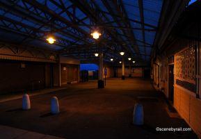 Pwllelli station at dusk